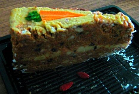 Crudessence Raw Carrot Cake