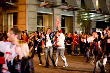 habs win saint catherine montreal riots