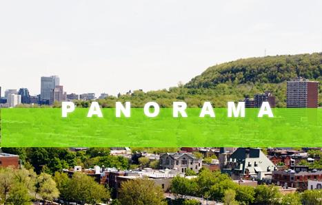 panorama montreal springtime