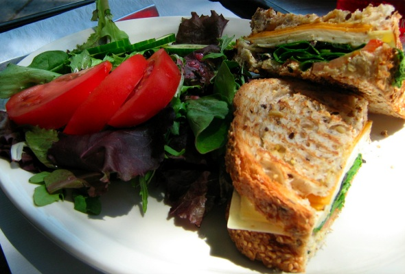 Cafe Velo Quebec Cheese Sandwich