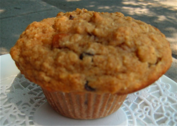 Cafe Velo Quebec Pear and Chocolate Chip Muffin
