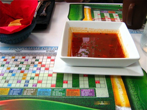 Programme de match and minestrone