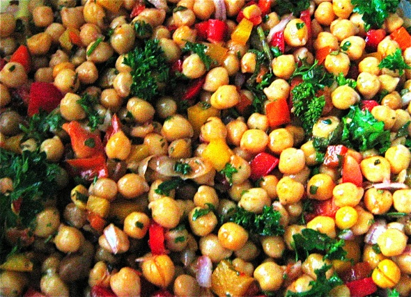 Chickpea Salad with French Dressing