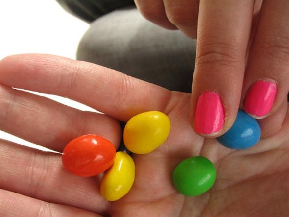 double rainbow montreal skittles m&m