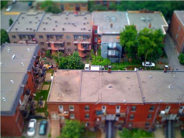 Mile End Montreal tilt shift