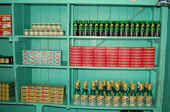 Wilensky's shelf Montreal deli