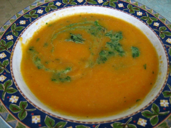 Squash Soup with Watercress