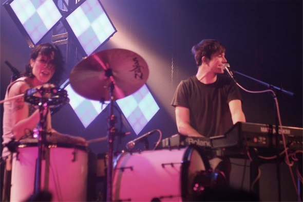 Matt and Kim in Montreal by Shawn Lennon
