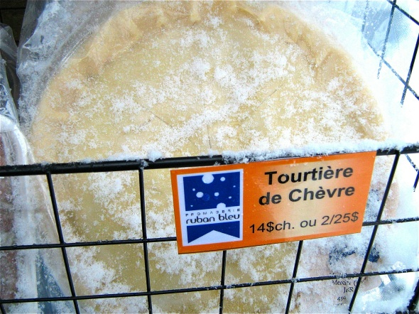 Longueuil Christmas Market - goats milk cheese tourtiere from le ruban bleu