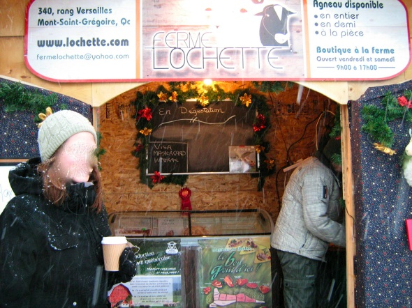 Ferme Lochette Lamb at the Longueuil Christmas Market