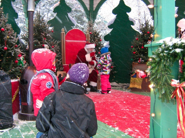 Santa at the Longueuil Christmas Market