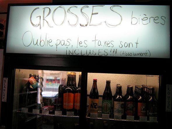 Grosses Beers at Veux-Tu Une Biere?
