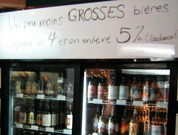 Un peu moins grosses bieres at Veux-Tu Une Biere?