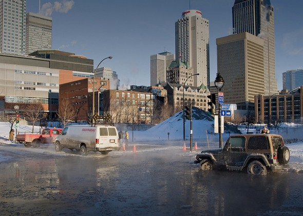 Broken water main Montreal Valentine's Day Obama Mubarak