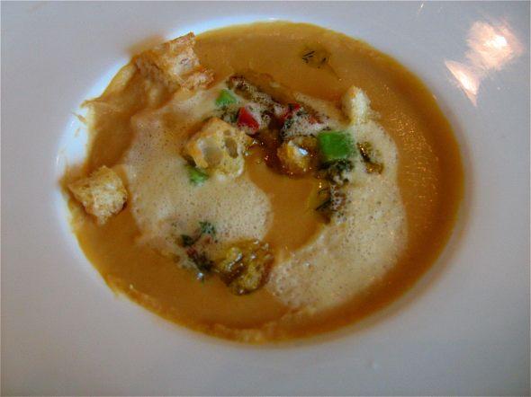 Le Restaurant de L'Institut chickpea soup at the Montreal highlights Festival