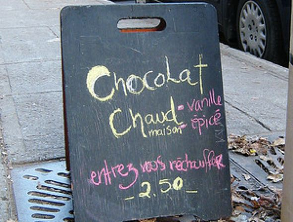 Nuit Blanche Montreal - food and hot chocolate