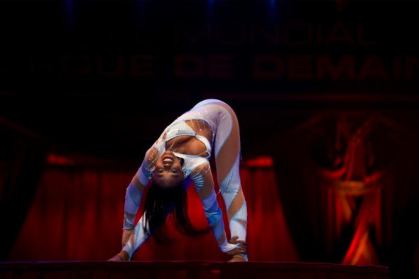 Lunga Contortionist at the Festival Mondial du Cirque du Demain