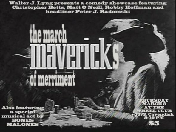 March Mavericks of Merriment at the Wheel Club in NDG