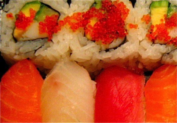 Unsustainable Seafood in Montreal - Salmon and Tuna Sushi