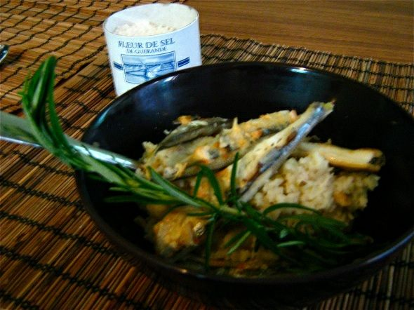 Grilled Sardines on Wild Mushroom Risotto with Thyme.jpg
