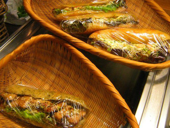Sandwiches at Cafe Le Falco
