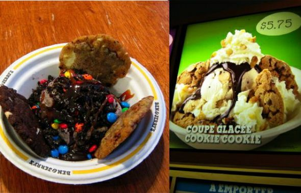 Ben and Jerrys Cookie Cookie Sundae and Free Cone Day