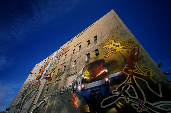 old,mission,brewery,graffiti,sky,metro