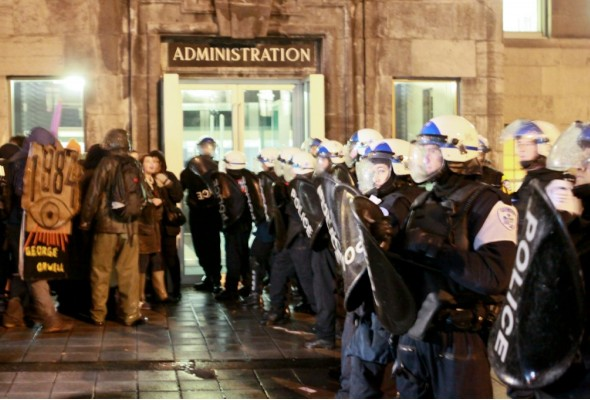 Riot Police on Campus