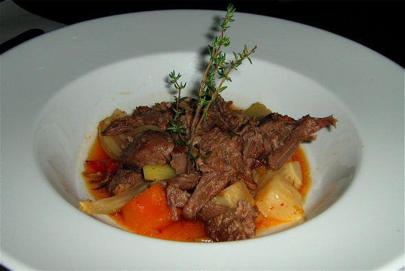 Su braised lamb with mint and sumac
