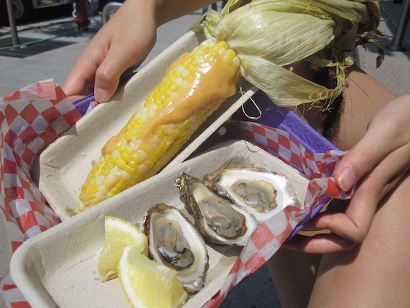 Corn and Oysters Pas d'cochon