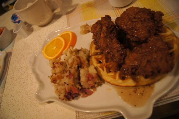Montreal Chicken and Waffles
