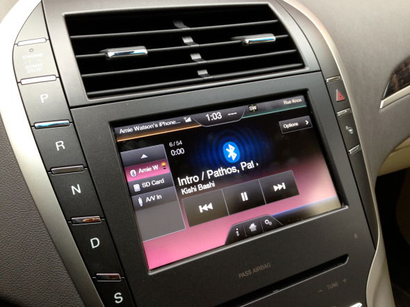 Rocking out to Kishi Bashi, and the touchscreen dash of the Lincoln MKZ